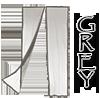 Grey 36x83 Screen Door
